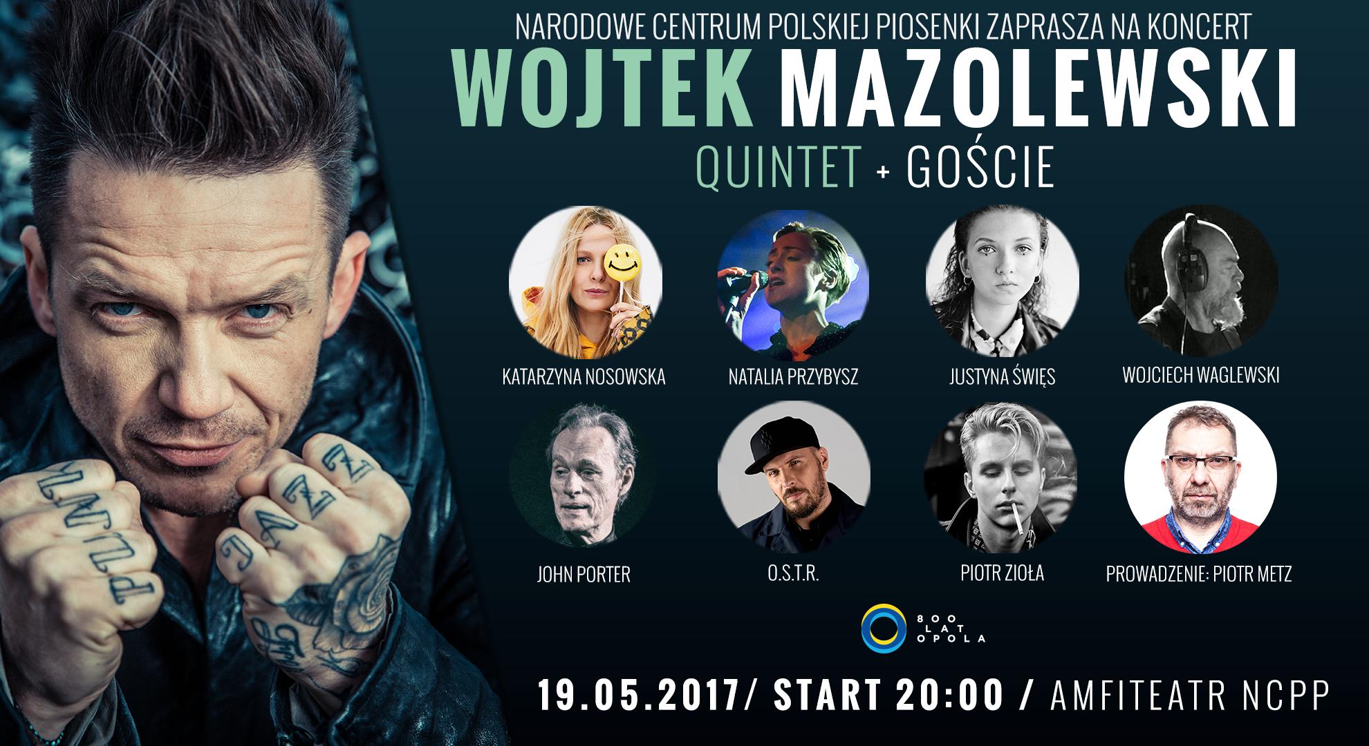 plakat wojciech mazolewski + goście