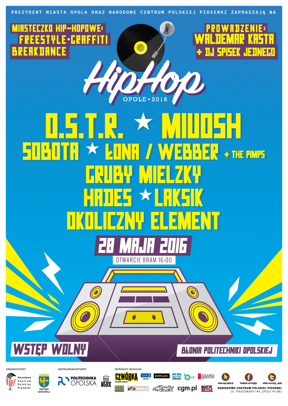 plakat hip hop 2016